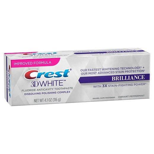 Crest Brilliance 3D white pasta dental