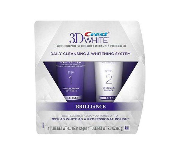 Crest 3D White Brilliance Sistema de blanqueamiento en 2 pasos - pasta de dientes