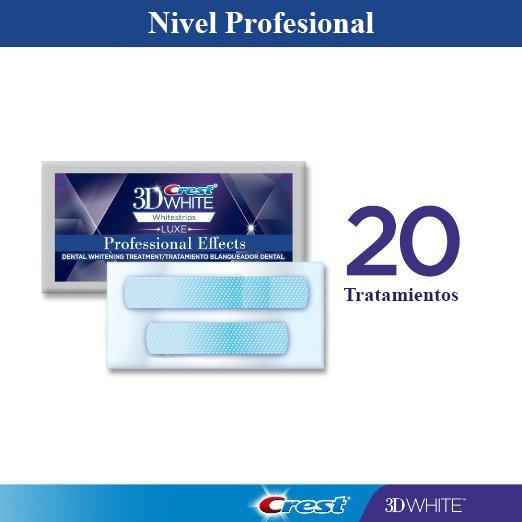 Tiras de efectos profesionales Whitestrips - 20 bolsas